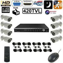 Yonis - Kit vidéosurveillance enregistreur 8 caméras Ip Sharp 1/4 420 Tvl