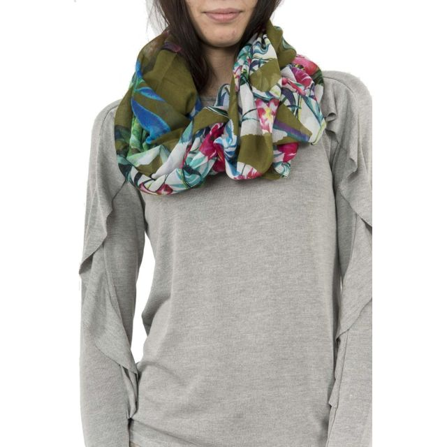 Desigual - Foulards 18saww87 gardenette vert - pas cher Achat   Vente  Echarpes, foulards - RueDuCommerce 0775e23d5ca