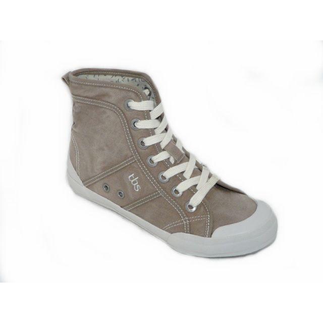 3a5732abd56c8 Tbs - Chaussures femme Toiles montantes grises - pas cher Achat / Vente  Baskets femme - RueDuCommerce