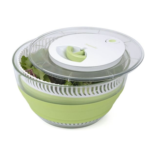 PROGRESSIVE - essoreuse à salade rétractable - css-1-4 max blanc/vert - 26