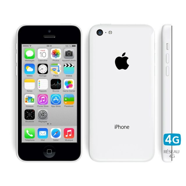 apple iphone 5c 32 go blanc pas cher achat vente smartphone classique ios rueducommerce. Black Bedroom Furniture Sets. Home Design Ideas