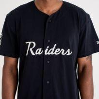 6205eb0d19c1a New Era - Maillot Nfl Baseball Oakland Raiders Script Button Up Noir pour  homme Taille -