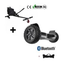 Balance Board - Pack Hoverboard Bluetooth All-Road 8,5P Noir + Hoverkart Noir