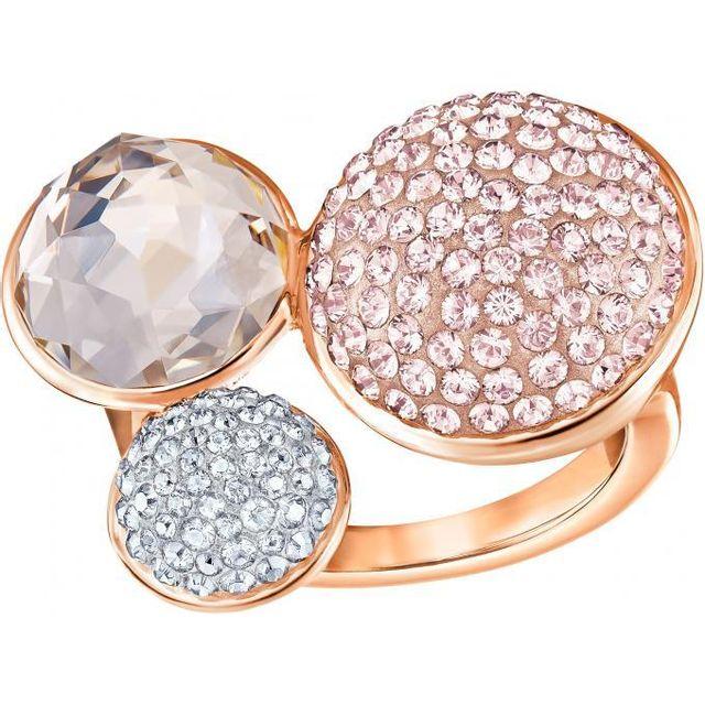 Swarovski Bijoux - Promo Bague Swarovski Modern Jewelry Fun-vros-ros - Bague  Triple 7ccb5a9360d6