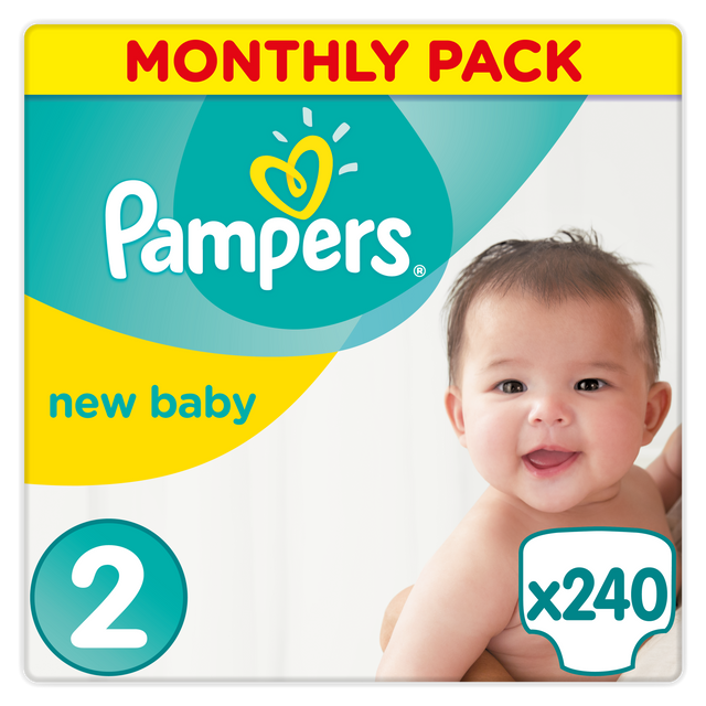 473cd1486b6d3 PAMPERS - Premium Protection New Baby - Couches Taille 2 (Mini) 3-6