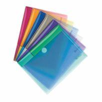 Tarifold - Chemise de présentation à velcro 17,8 x 23 cm couleurs assorties - Paquet de 6