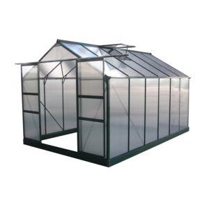 habitat et jardin serre jardin polycarbonate dahlia vert sapin 9 24 m pas cher achat. Black Bedroom Furniture Sets. Home Design Ideas