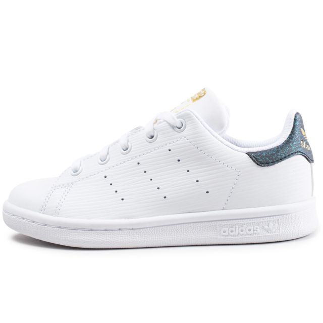 Adidas originals - Stan Smith Enfant Blanche Et Verte Brillant - pas ... a763bf80be34
