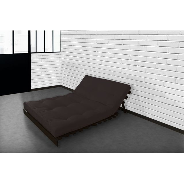 lovea matelas futon coton chocolat 160x200 fabrication fran aise fait main sebpeche31. Black Bedroom Furniture Sets. Home Design Ideas