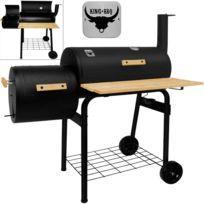 Justdeco - Superbe King BBQ Station Du Gril/Smoker/Fumeur avec 2 grils - Griller directement/indirectement Neuf