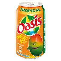 Oasis - Tropical canette 33 cl - Carton de 24