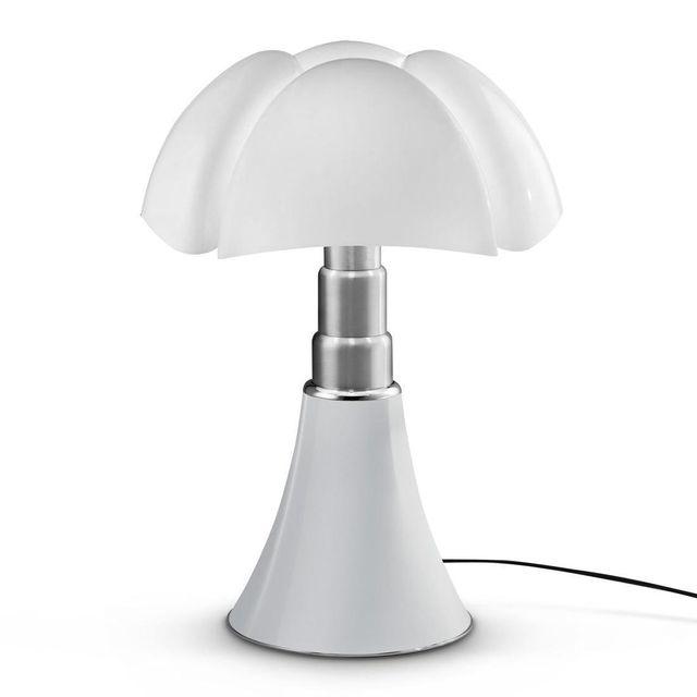 Martinelli Luce Pipistrello - Lampe Blanc Led pied télescopique H66-86cm - Lampe à poser designé par Gae Aulenti