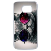 Lapinette - Coque Rigide Humour Chat Swag Pour Samsung Galaxy S7