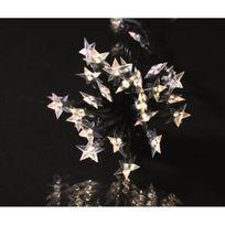 Codico - Guirlande de noël lumineuse étoile souple 60 Led 5 m blanc