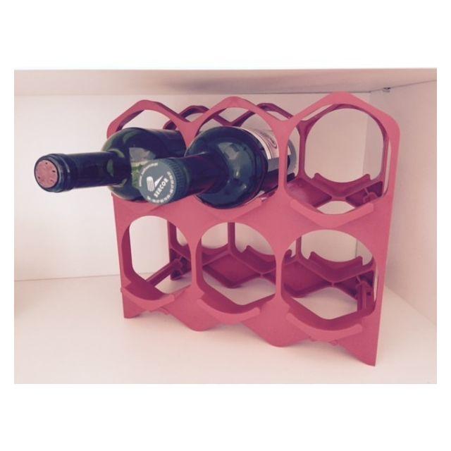 Drinkcase Casiers à bouteilles couleur Rouge, Design et empilables Pack de 15 Casiers