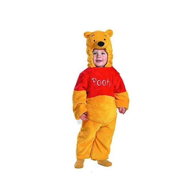 WINNIE L'OURSON Winnie The Pooh Deluxe 2-Sided Plush Jumpsuit Costume - Medium 3T-4T