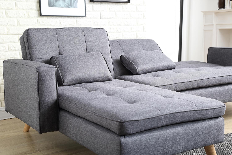 bobochic canap 4 places modulable convertible nora gris fonc achat vente canap s pas. Black Bedroom Furniture Sets. Home Design Ideas