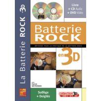 Play Music Publishing - Méthodes Et Pédagogie Meyronnin P Batterie Rock En 3d Cd + Dvd Batterie
