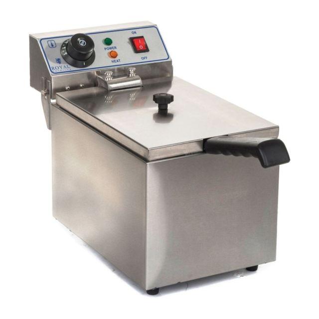 Autre Friteuse acier inox 1 bac 8 litres cuve amovible thermostat professionnelle 3614007