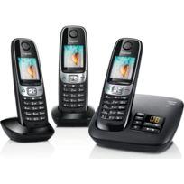 Siemens - Telephone fixe GIGASET C620A TRIO Noir sans fil avec répondeur - Fonction mains libres avec son Haute Definition HSP