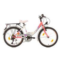 KS CYCLING - Vélo enfant 20'' Florida rose TC 34 cm DACAPO