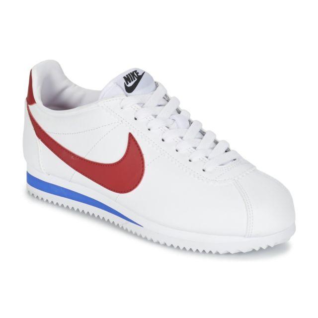 on sale 01628 cc7c5 Nike - Basket mode Wms Classic Cortez Leather 807471103 Blanc - pas cher  Achat  Vente Baskets femme - RueDuCommerce
