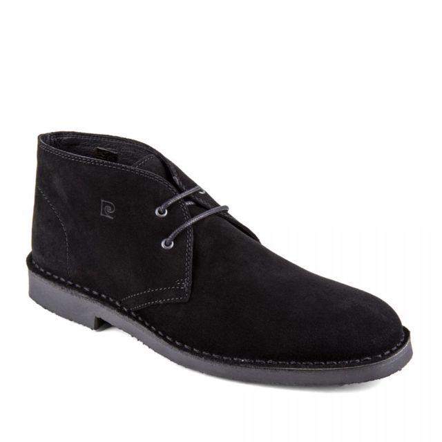 Chaussures derbies montantes noires cuir retourné Galo Homme