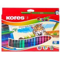 Kores - Feutre Coloriage Korello Etui De 20 Pte Large Assortis Fs29042