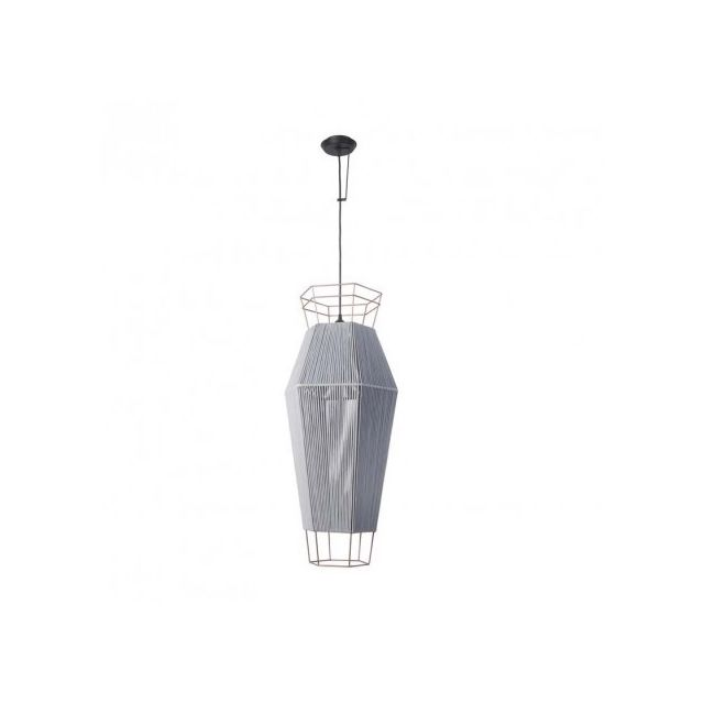 Leds C4 Grande suspension cordon Legato H91 cm - Gris