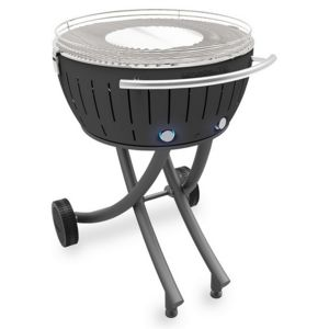 LOTUSGRILL - barbecue à charbon portable 60cm gris avec housse - lg-an-600