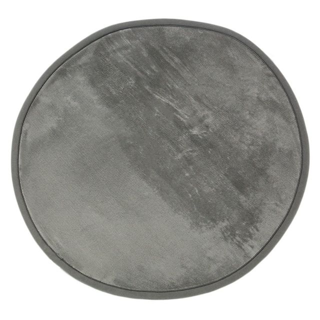 Mon Beau Tapis Tapis rond gris extra doux diam. 70cm Flanelle