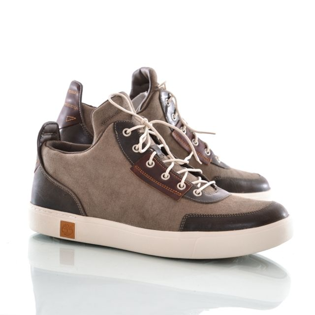 Chaussures montantes amherst canvas marron