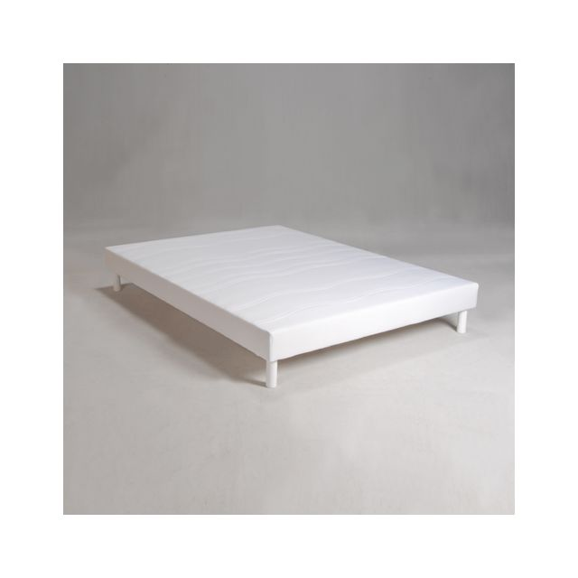 no name sommier tapissier mage 140x190 blanc 140cm x 190cm pas cher achat vente sommiers. Black Bedroom Furniture Sets. Home Design Ideas