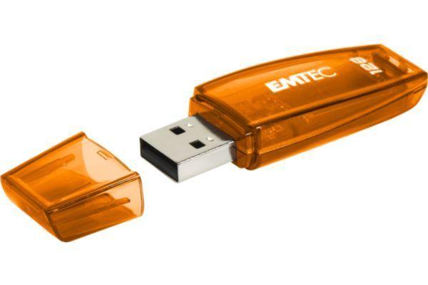Emtec Clé Usb 128Go C410 Usb 3.0 Coloris : Orange Longueur développée : 20 Dimensions l x h x p : 5.7 x 1.9 x 0.9 cm Mac : Mac Os X ...