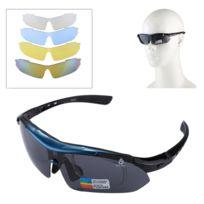 e3d45e62db661 Wewoo - Pour Tir   Cyclisme   bleu Ski   Golf Lunettes de soleil Uv400 Sport