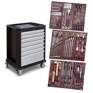 kraftwerk servante d atelier compl te avec 191 outils pas cher achat vente servante. Black Bedroom Furniture Sets. Home Design Ideas