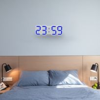 1332f375ecee32 Wewoo - Horloge murale bleu pour la maison, cuisine, bureau, Dc 5V Réveil