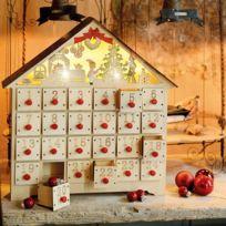 Blachere Illumination - Maison Led Bois Avec Tiroirs
