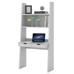 alin a yolo bureau tag re blanc 2 tiroirs h186cm pas cher achat vente bureaux. Black Bedroom Furniture Sets. Home Design Ideas