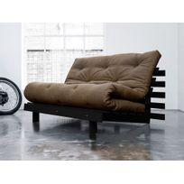 Karup - Banquette convertible en bois wengé avec matelas futon Roots