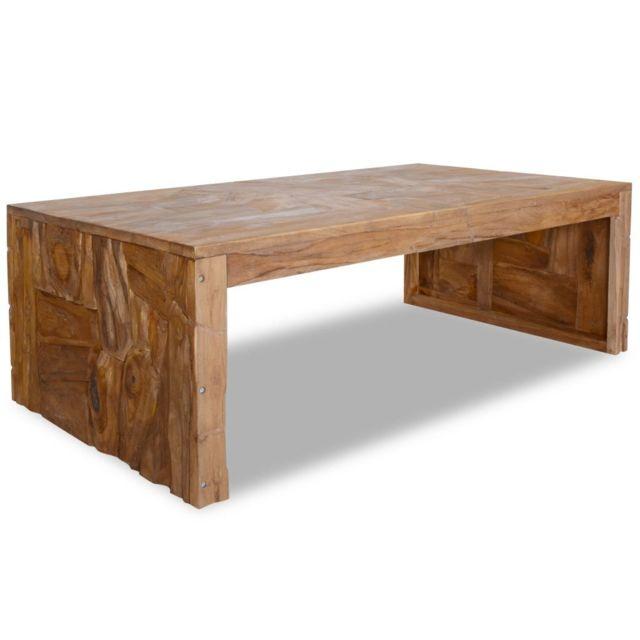 Vidaxl Bois de Teck Table Basse Table d'Appoint Meuble de Salon Canapé Maison