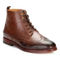 Hudson - Mens Brown Penley Boots-UK 8