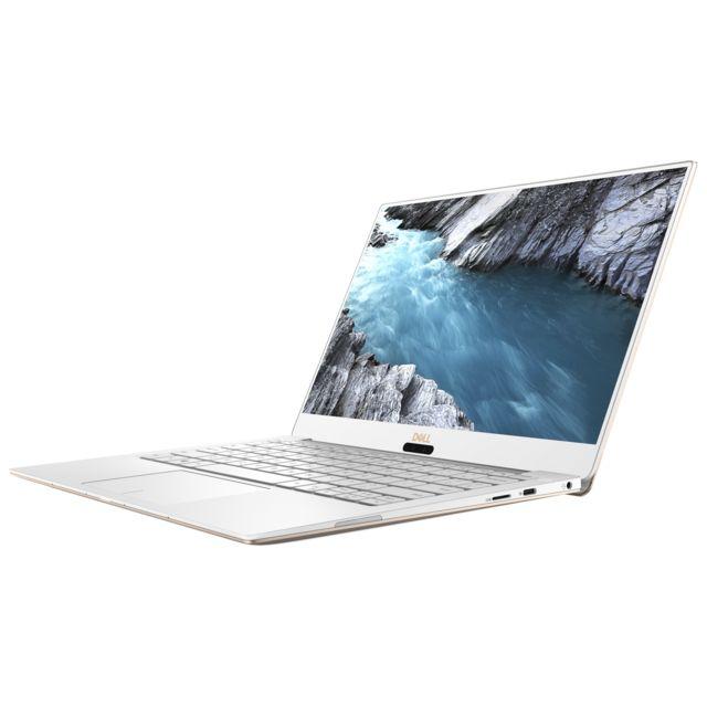 """DELL XPS 13 9370 - Core i7 - Or Ecran 13,3"""" Full HD InfinityEdge - Epaisseur de 16 mm - Poids de 1,27 kg - 2 haut-parleurs - Clavier AZERTY chiclet rétroéclairé - HDMI - USB 3.1 - Thunderbolt 3 - Webcam HD"""