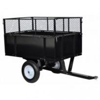 Destockoutils - Remorque basculante pour tondeuse tracteur de jardin