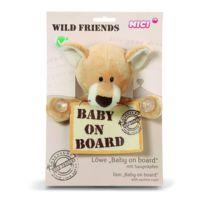 Nici - Peluche 18 x 14 cm pour Voiture Baby on Board - Wild Friends Lion