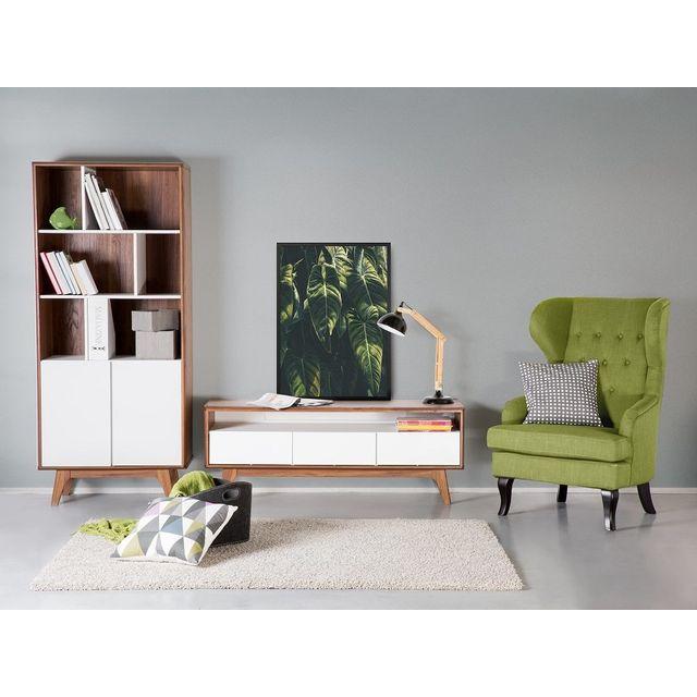 Beliani armoire meuble de rangement biblioth que en for Meuble columbus