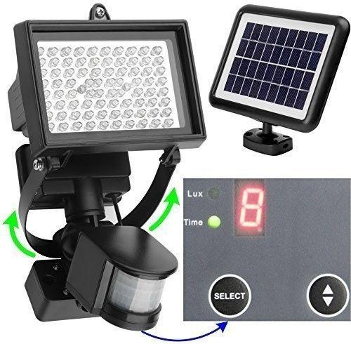 alpexe 80 led solaire clairage ext rieur avec d tecteur. Black Bedroom Furniture Sets. Home Design Ideas