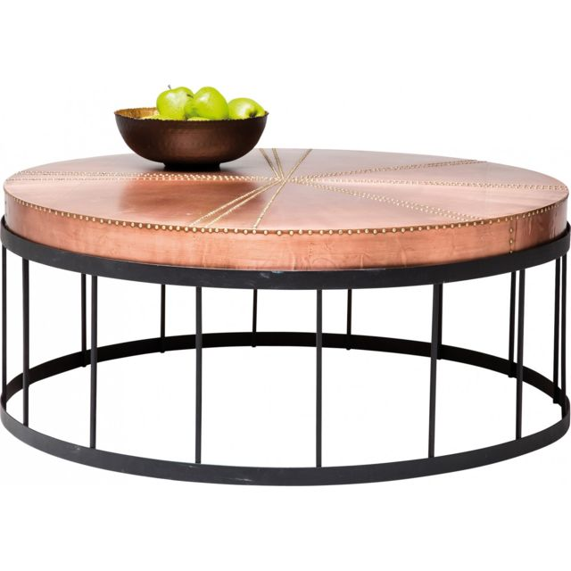 Karedesign Table Basse Ronde Rivet Cuivre Kare Design Pas Cher