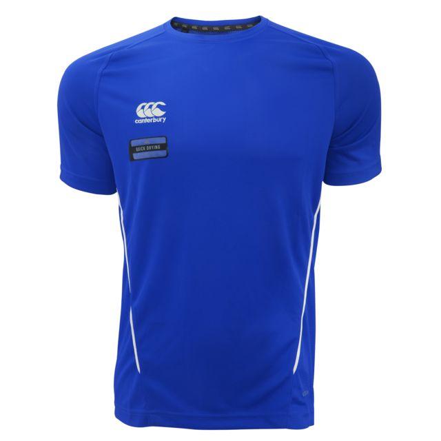 CANTERBURY T-shirt à manches courtes - Homme M, Bleu roi/Blanc Utpc2468