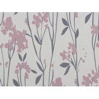 Graham & Brown - Papier peint vinyle grainé intissé motif floral gris et rose 10.05x0.52m Empathy